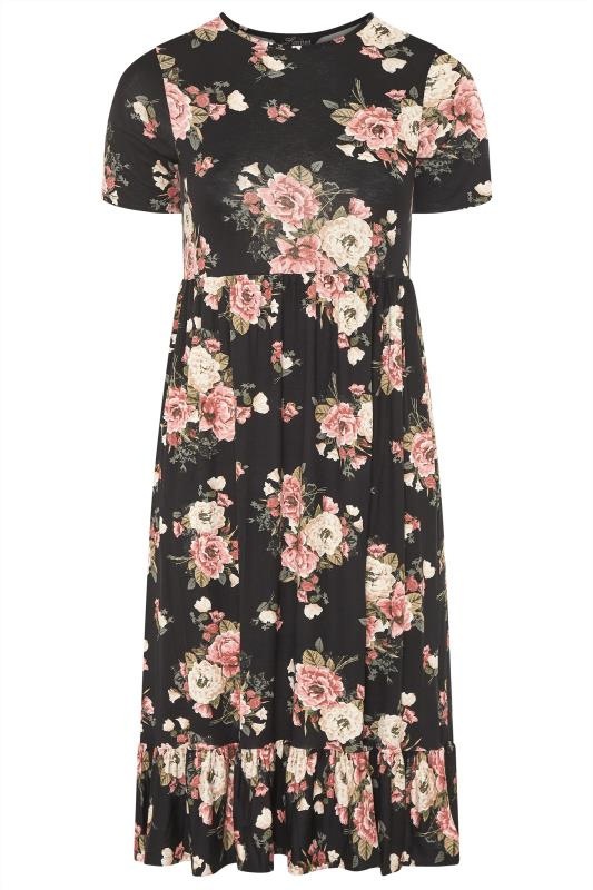 LIMITED COLLECTION Blush Rose Floral Tiered Midaxi Smock Dress_F.jpg