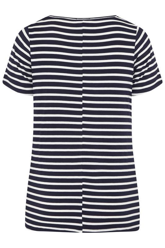 BUMP IT UP MATERNITY Black Stripe Short Sleeve T-Shirt_BK.jpg