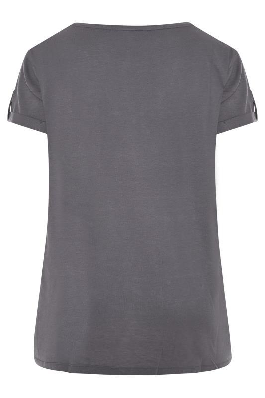 Grey Pocket Dipped Hem T-Shirt_BK.jpg