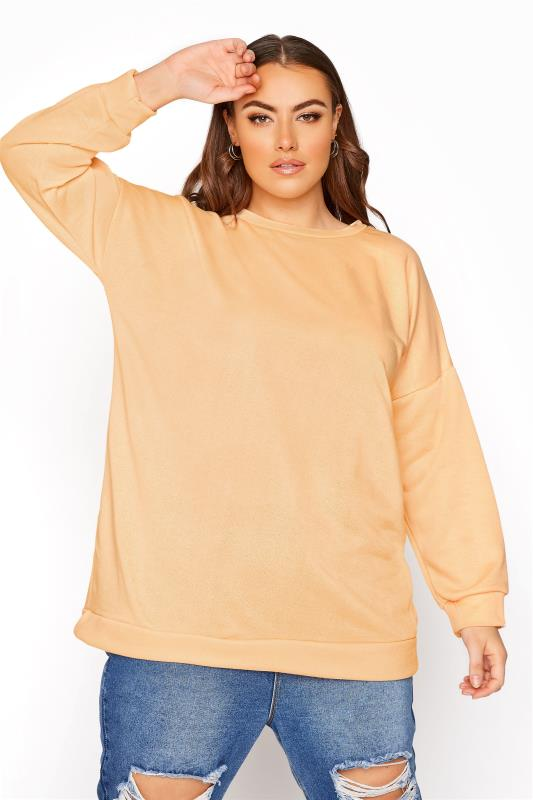 Peach Cotton Jersey Sweatshirt