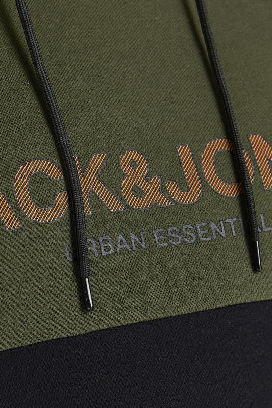 JACK & JONES Green Colour Block Hoodie_S.jpg