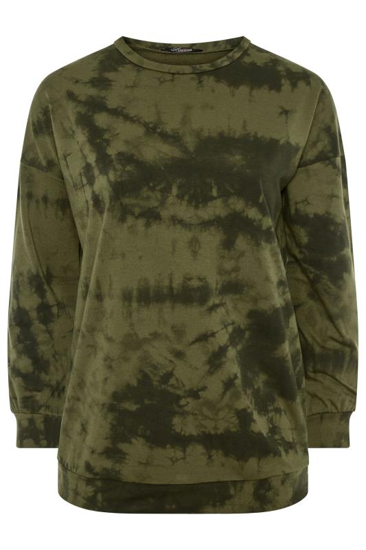 LIMITED COLLECTION Khaki Tie Dye Sweatshirt