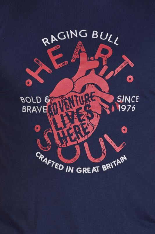 RAGING BULL Navy Heart & Soul T-Shirt_D.jpg