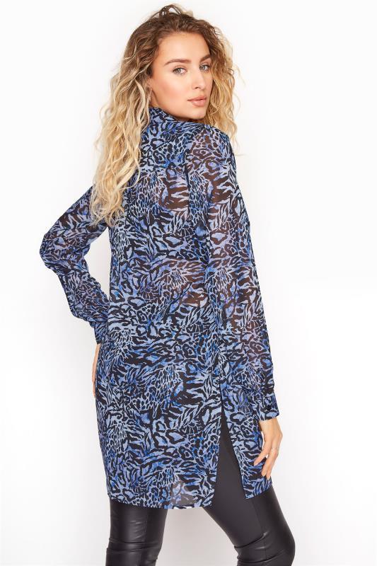 LTS Blue Mixed Animal Longline Chiffon Shirt_C.jpg
