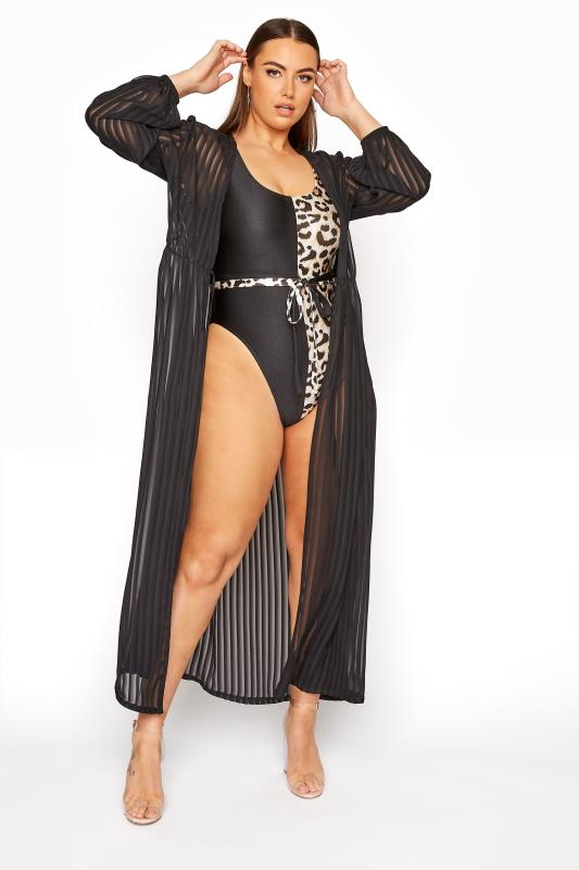 LIMITED COLLECTION Black Animal Print Swimsuit