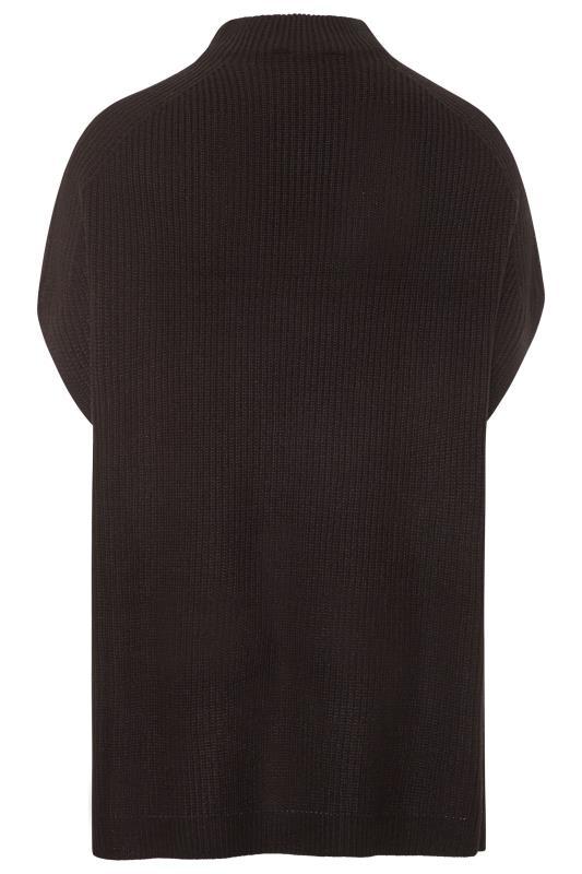 Black Longline Sleeveless Knitted Jumper_BK.jpg