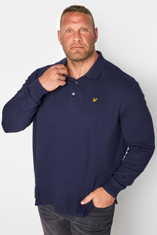 Tallas Grandes LYLE & SCOTT Navy Long Sleeve Polo Shirt