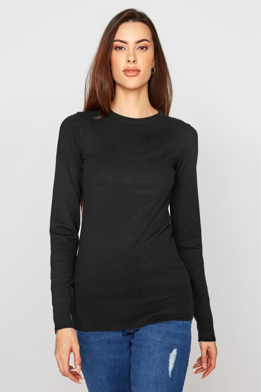 Tall  LTS Black Knitted Jumper