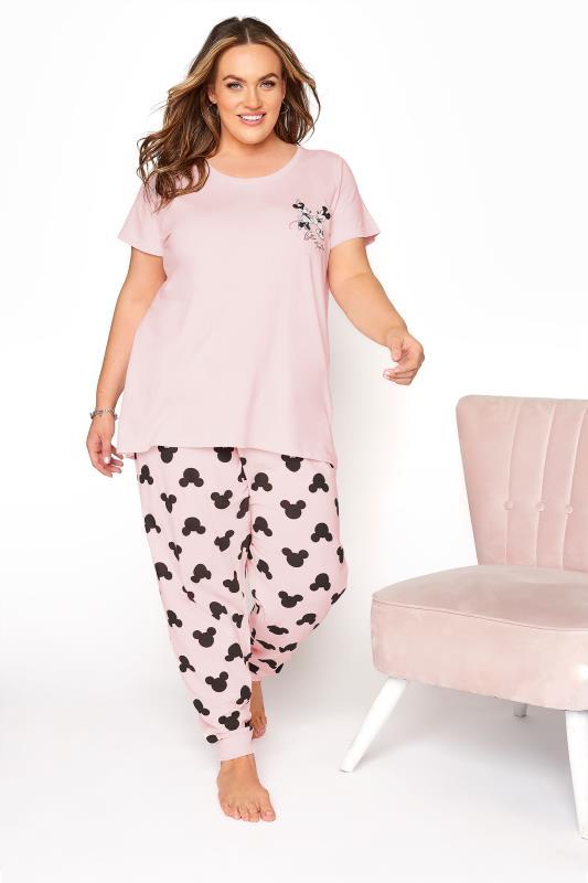 Großen Größen  DISNEY Pink Mickey and Minnie Mouse Pyjama Set