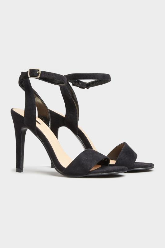 LIMITED COLLECTION Black Strappy Two Part Heels In Extra Wide Fit_B.jpg