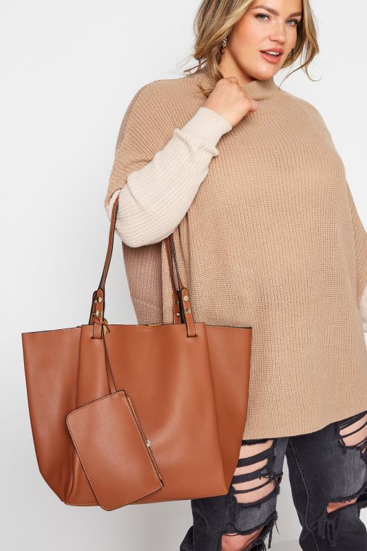 Brown Tote Bag & Purse Set