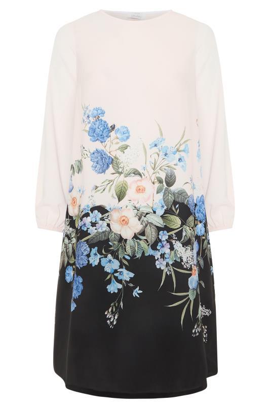 YOURS LONDON White Floral Border Shift Dress_F.jpg