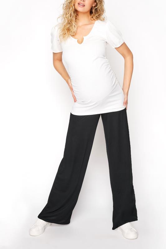 Tall  LTS Maternity Black Wide Leg Trousers