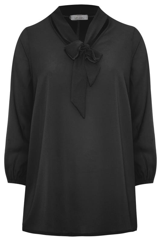 YOURS LONDON Black Bow Blouse_F.jpg