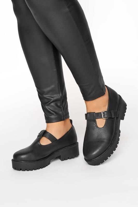 LIMITED COLLECTION Black Mary Janes In Extra Wide Fit