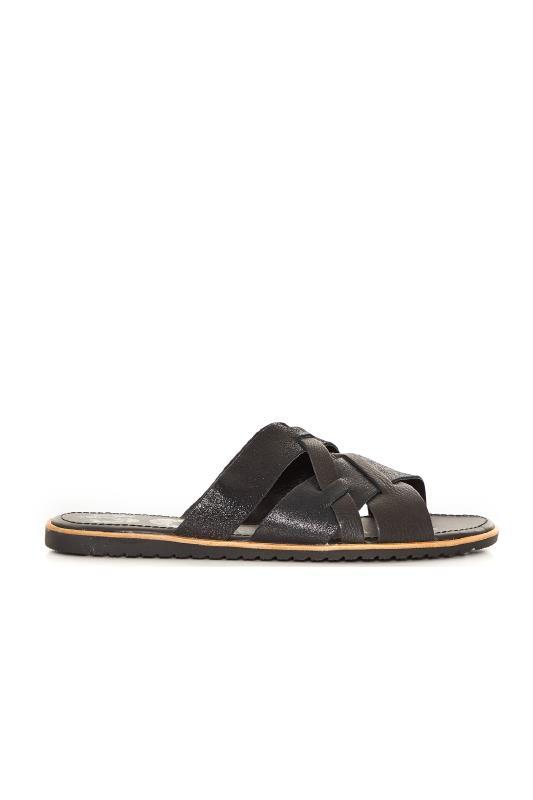 SOREL Black Suede Leather Ella Slides