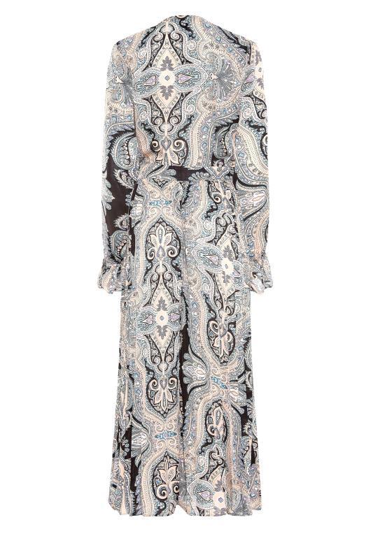 LTS Natural Paisley Print Long Sleeve Pleat Dress_BK.jpg