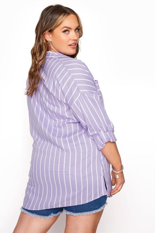 Lilac Striped Oversized Drop Shoulder Shirt_C.jpg