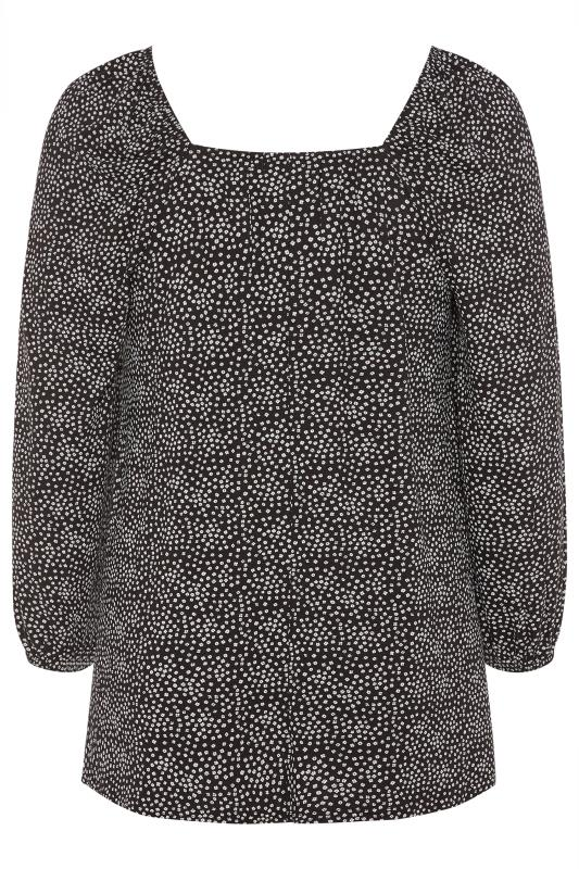 LIMITED COLLECTION Black Ditsy Square Neck Top