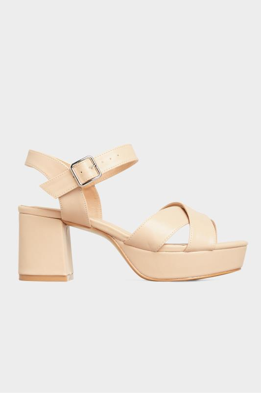 LIMITED COLLECTION Nude Platform Heeled Sandals In Extra Wide Fit_A.jpg