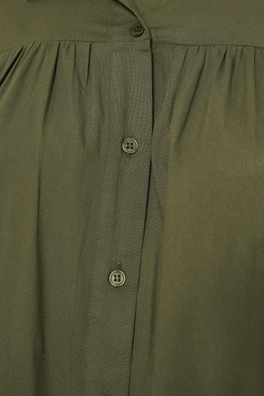 Khaki Smock Tiered Tunic Blouse_S.jpg