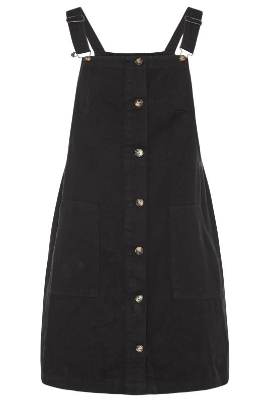 LIMITED COLLECTION Black Button Front Pinafore Dress_F.jpg
