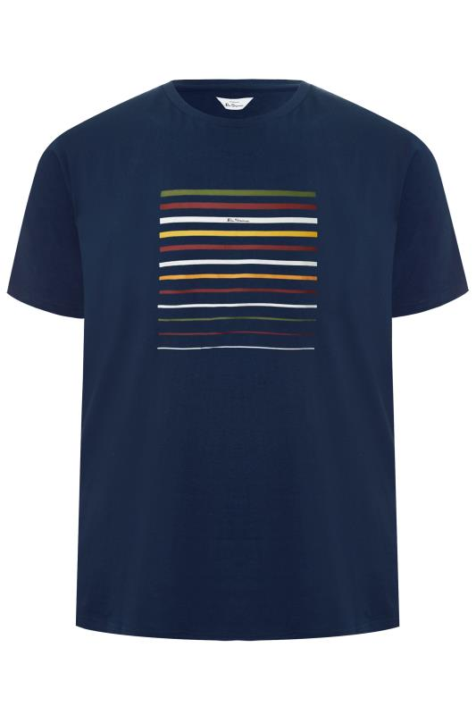 Plus Size  BEN SHERMAN Navy Striped T-Shirt