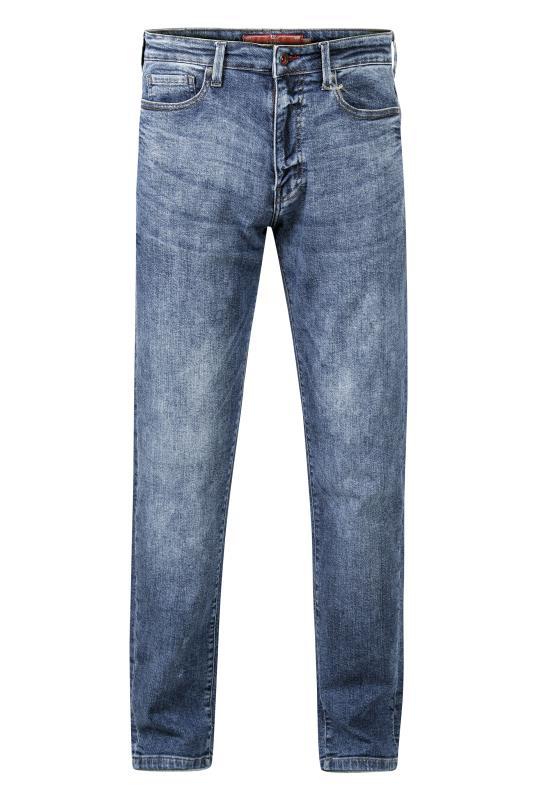 Plus Size  D555 Blue 1959 Straight Leg Stretch Jeans