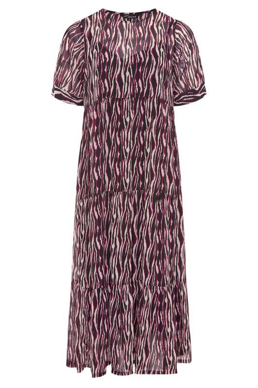 LIMITED COLLECTION Black Zebra Print Tiered Maxi Dress_F.jpg