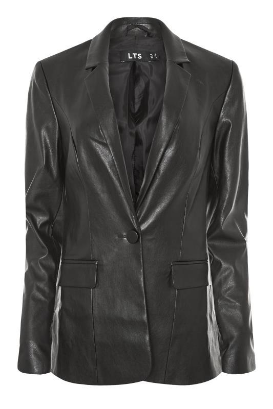 LTS Black Faux Leather Blazer_F.jpg