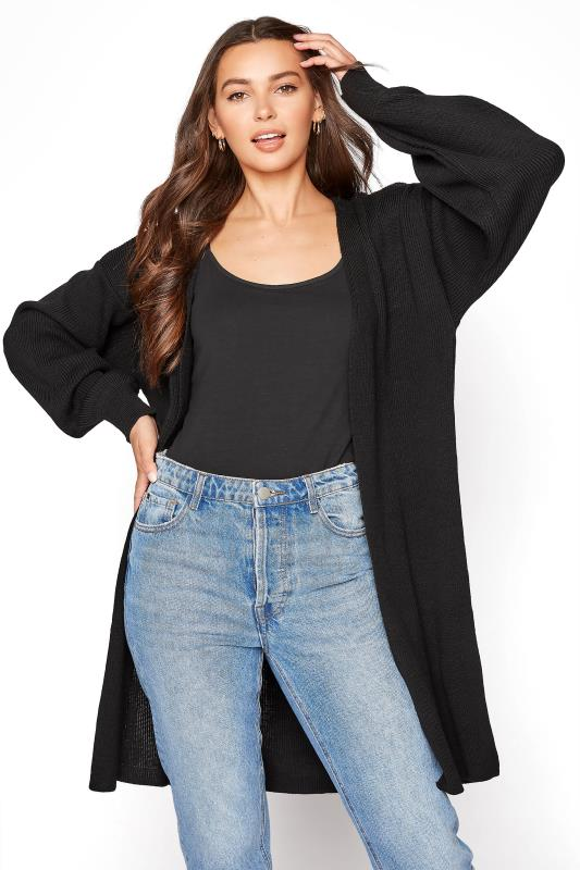 LTS Black Balloon Sleeve Cardigan