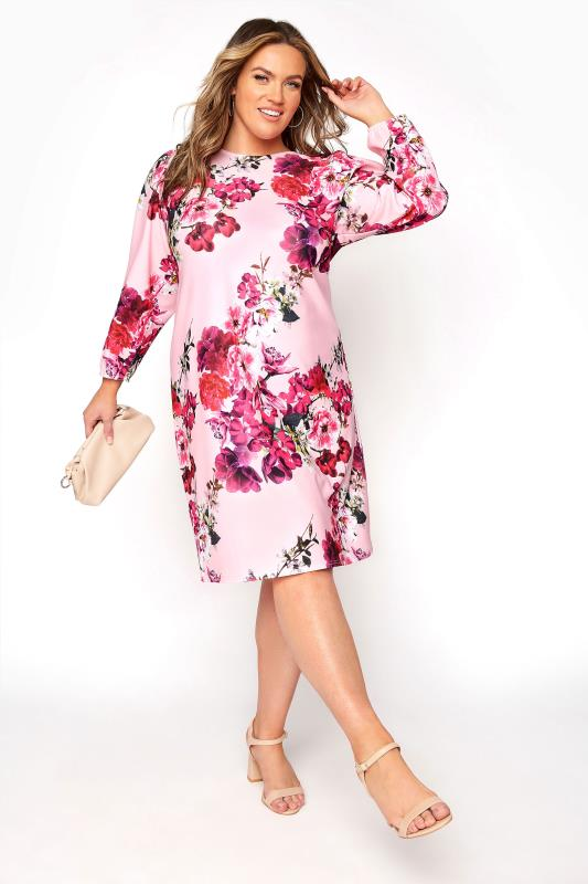 YOURS LONDON Pink Floral Shift Dress