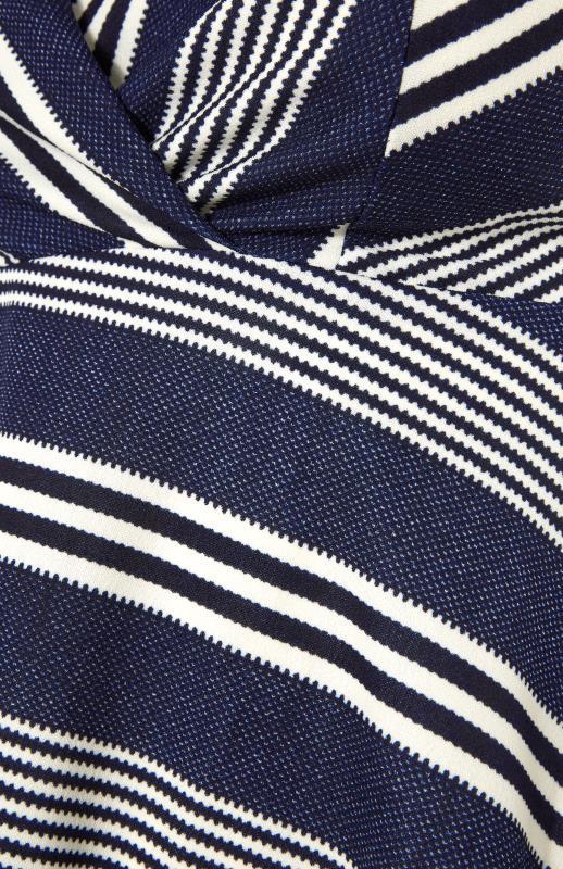 Blue Stripe Wrap Skater Dress_S.jpg
