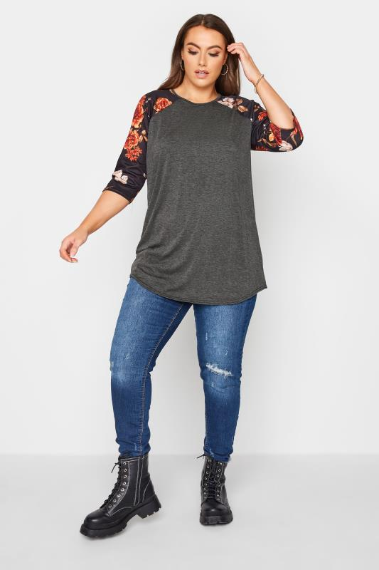 LIMITED COLLECTION Charcoal Floral Top_B.jpg