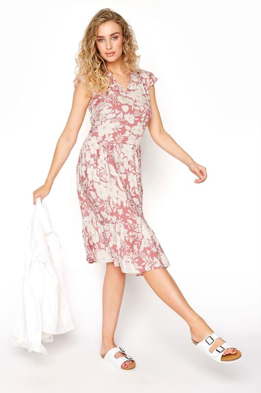 LTS Pink Tiered Frill Sleeve Floral Tunic_B.jpg