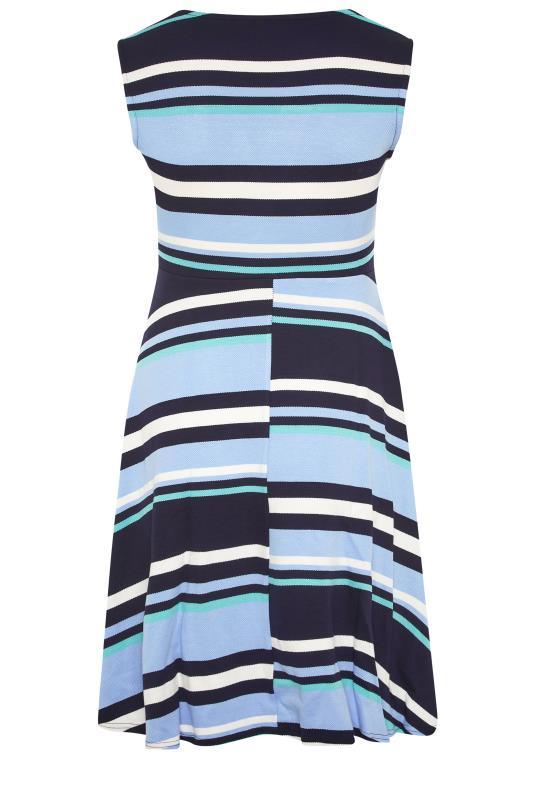 Light Blue Stripe Wrap Skater Dress_BK.jpg