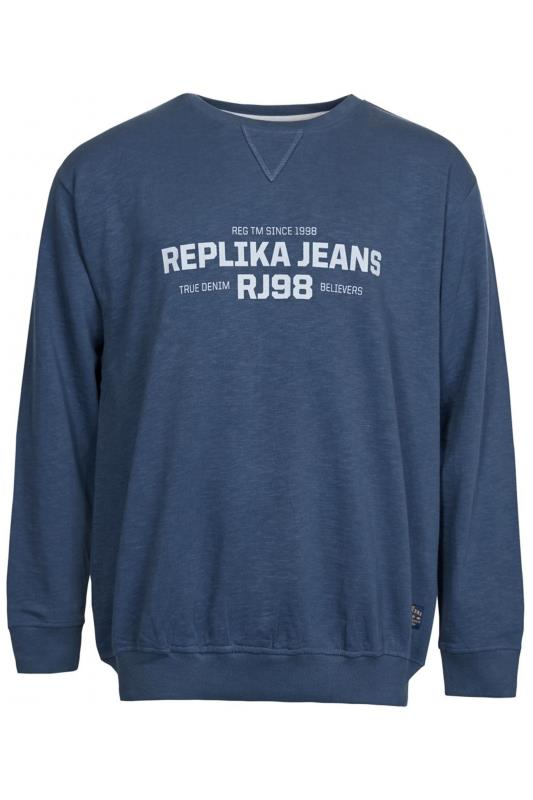 Plus Size Casual / Every Day REPLIKA Navy Logo Sweatshirt
