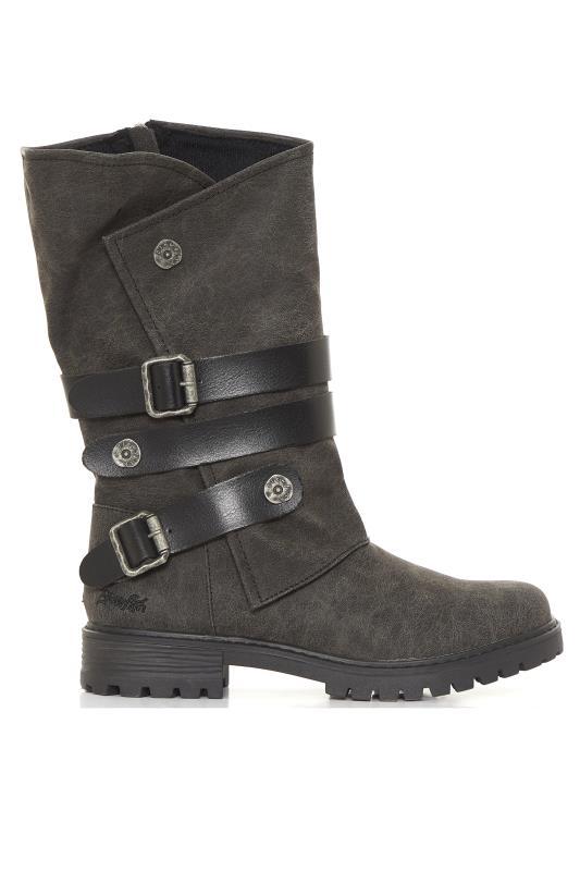 BLOWFISH Black Buckle Rider Boots