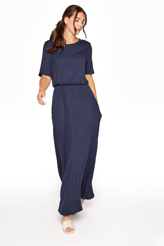 Tall  LTS Navy Pocket Midaxi Dress