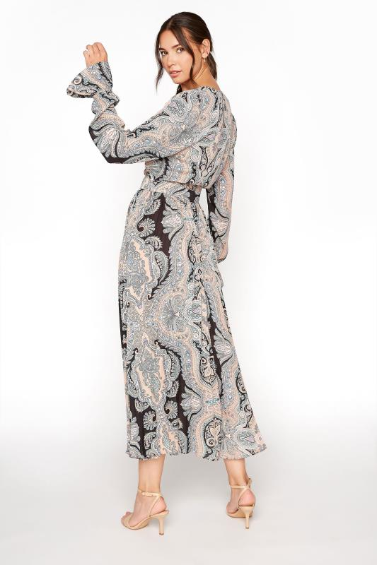 LTS Natural Paisley Print Long Sleeve Pleat Dress_C.jpg