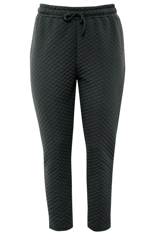 Black Slim Leg Quilted Joggers