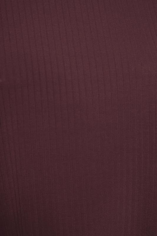 LIMITED COLLECTION Berry Purple Puff Sleeve Ribbed Top_S.jpg