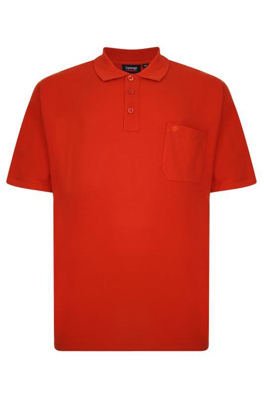 Plus Size  ESPIONAGE Orange Pique Pocket Polo