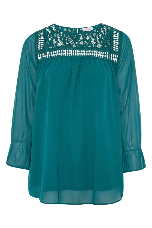 YOURS LONDON Teal Lace Blouse_F.jpg