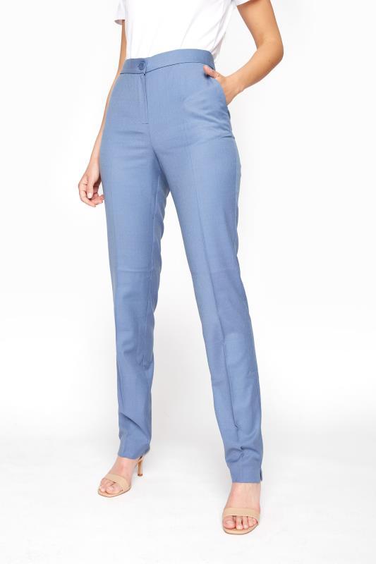 Blue Slim Leg Suit Trousers_B.jpg