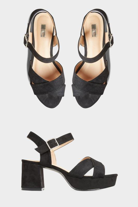 Yours LIMITED COLLECTION Black Platform Sandal In Extra Wide Fit