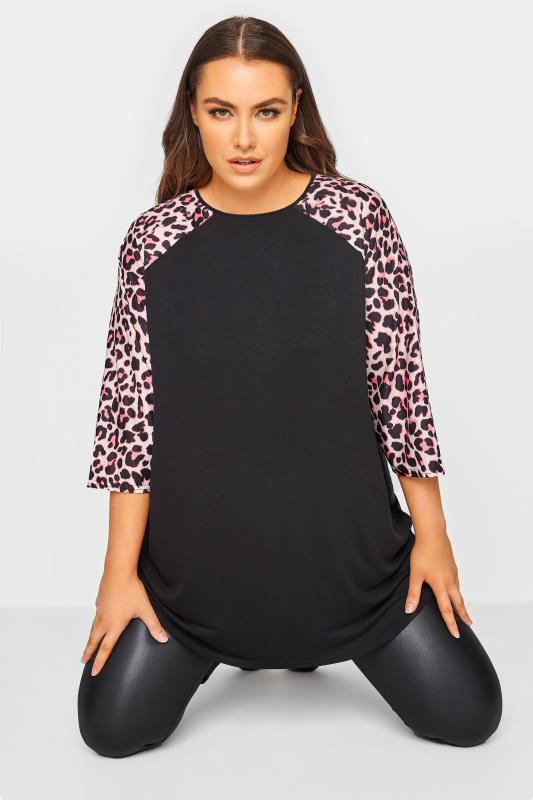 LIMITED COLLECTION Black Leopard Print Top_A.jpg