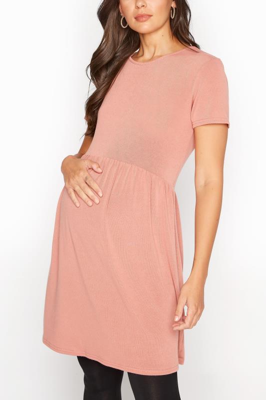 LTS Maternity Pink Smock Top_A.jpg