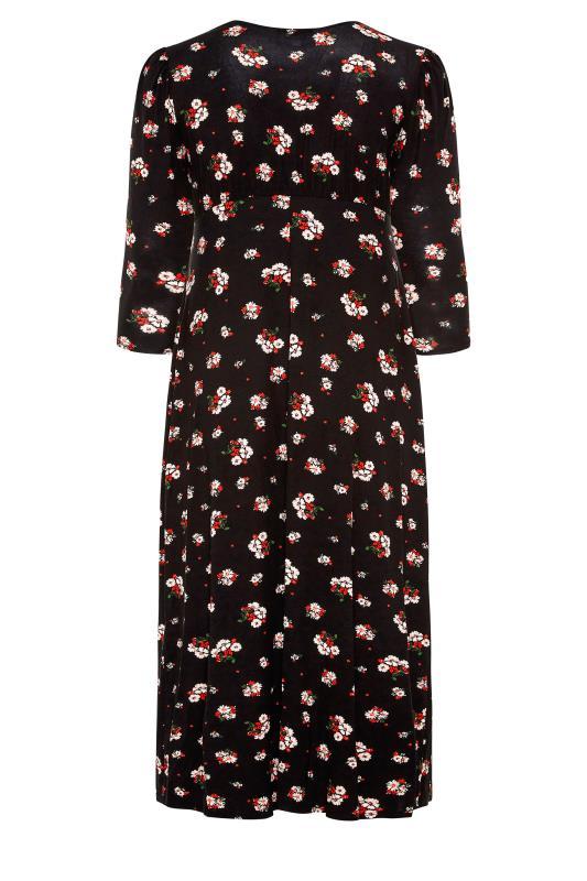 YOURS LONDON Black Floral Side Split Midaxi Dress_BK.jpg