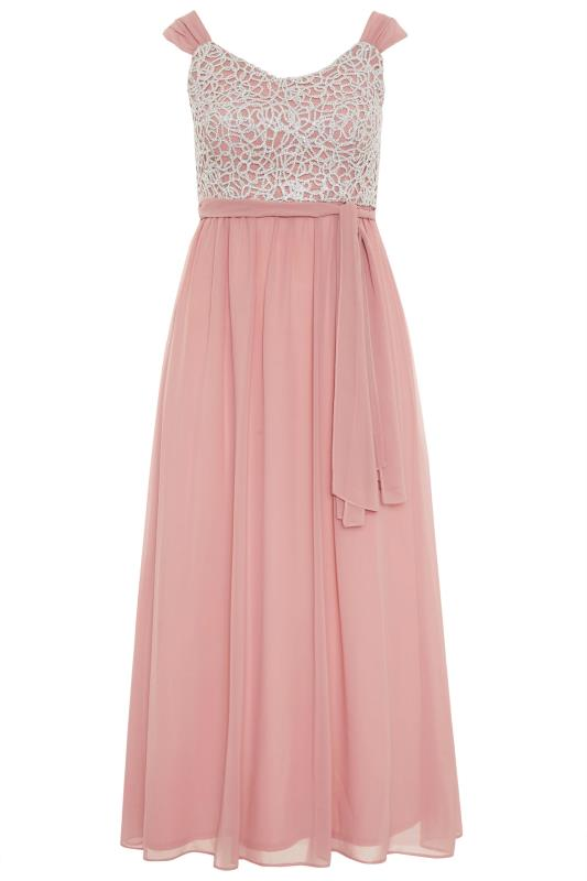 Pink Sleeveless Crochet Overlay Maxi Dress_F.jpg
